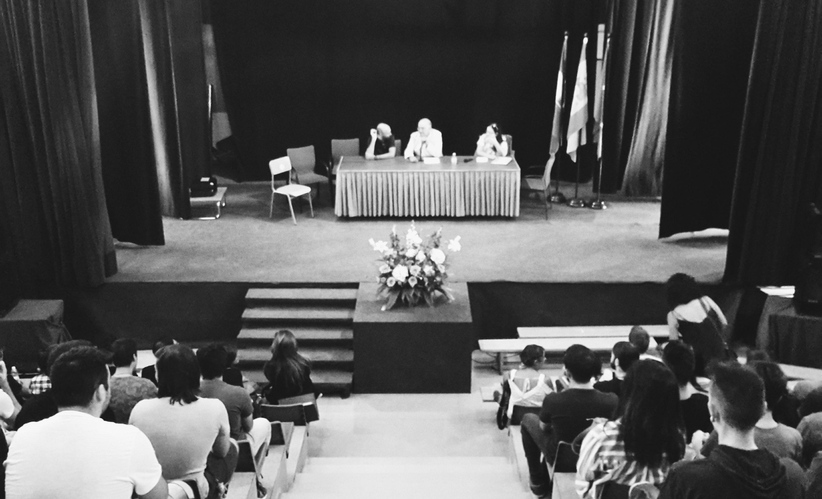 Recepción de los alumnos de Imagen y Sonido del curso 2016-2017.