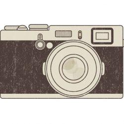 Ilustración cámara de fotos